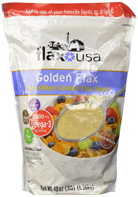Flax USA 100% Natural Organic Flax Cold Milled Ground