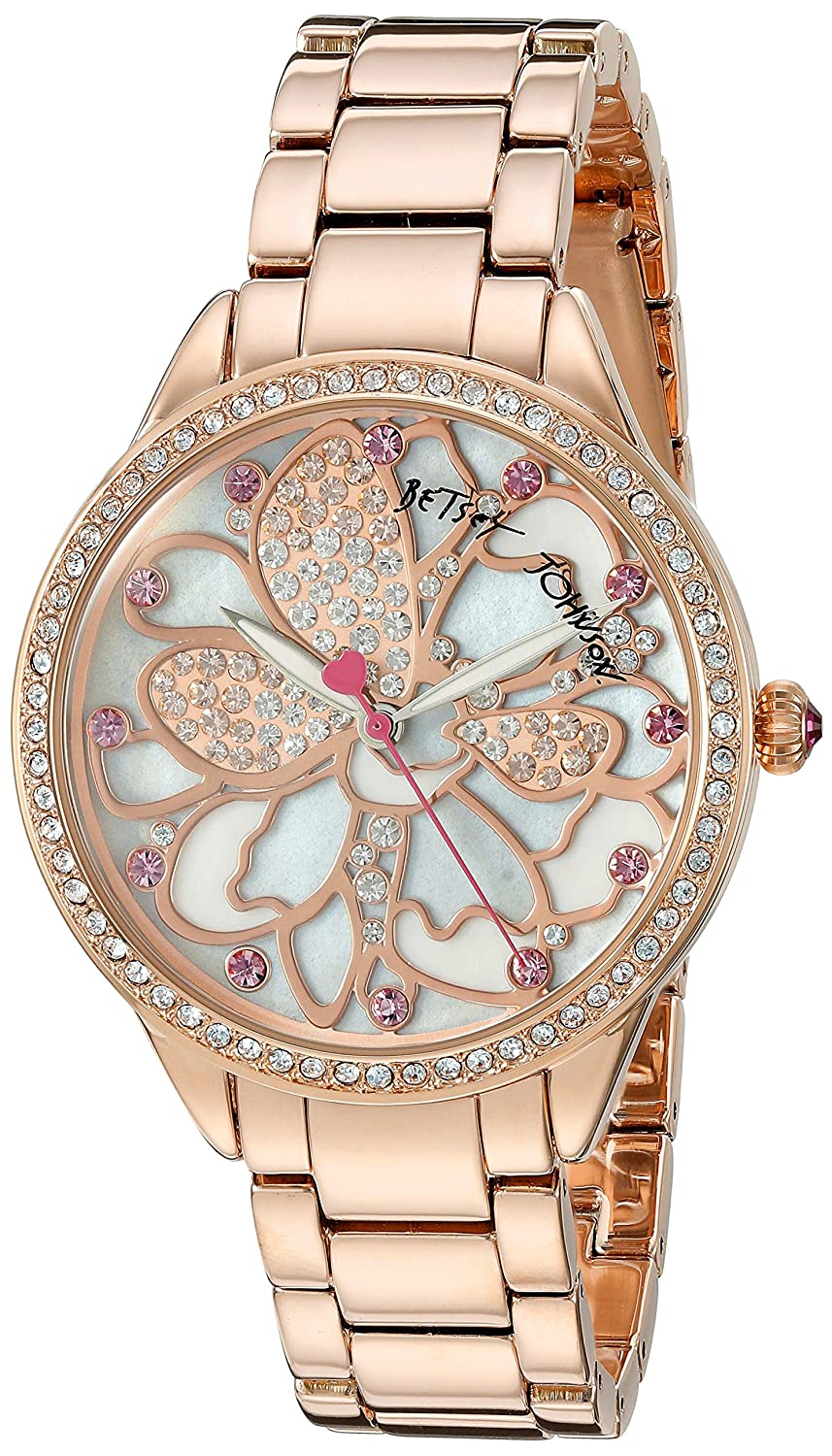 Betsey Johnson Women's BJ00572-01 Analog Display Quartz Rose Gold Watch