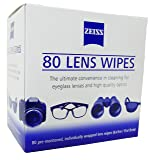 Zeiss Pre Moistened Lens Cleaning Wipes 80 Count (Tamaño: 80 Count)