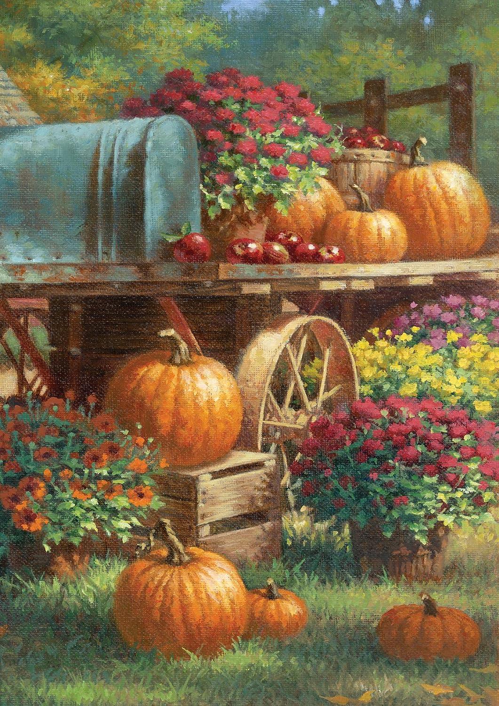 Thanksgiving Pumpkins Garden Flags | Thanksgiving Wikii