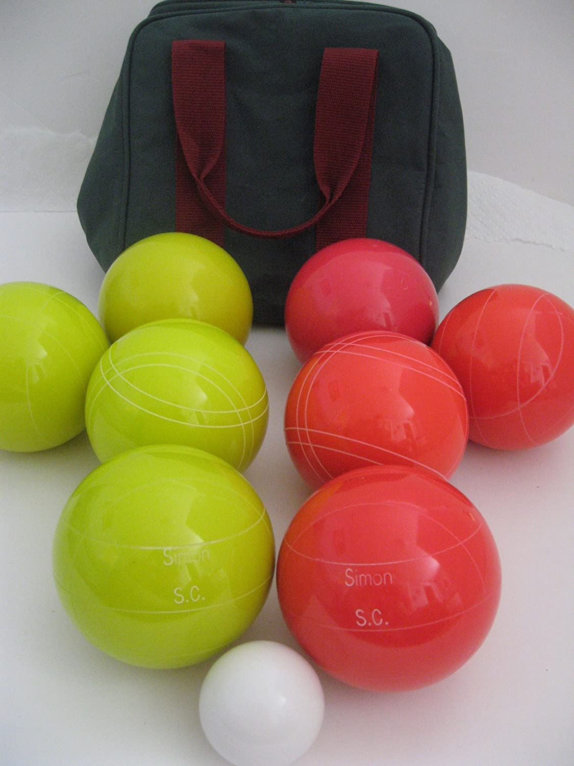 Premium Quality Engraved EPCO Bocce package – 107mm EPCO Yellow and light Red… jetzt kaufen