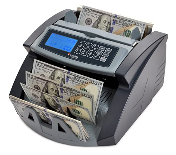 NEW Money Bill Cash Counter Bank Currency Counting Machine UV /& MG Counterfeit