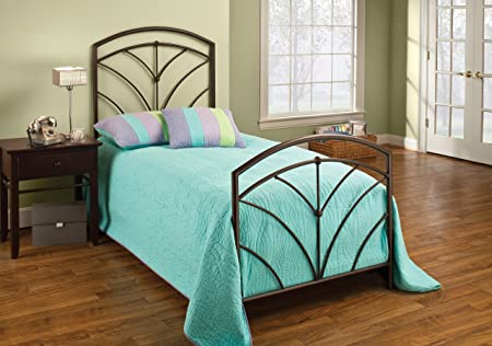 Hillsdale Furniture 1568BTW Thompson Bed Set without Rails, Twin, Bronze