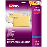 Avery Matte Frosted Clear Return Address Labels for Inkjet Printers, 2/3