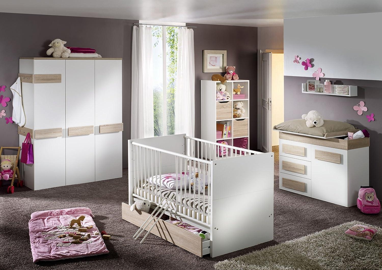 Pixi 7 teilig Babyzimmer Wickelkommode Babybett Eiche jetzt bestellen
