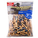 Pride Professional Tee System ProLength Plus Tee, 3-1/4 inch-135 Count (Blue on Natural)