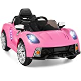 Best Choice Products 12V Kids Battery Powered Remote Control Electric RC Ride-On Car w/ 2 Speeds, LED Lights, MP3, AUX - Pink (Color: Pink)