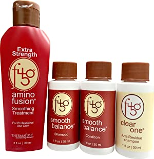 Thermafuse f450 Amino Fusion Extra Strength Smoothing Treatment Kit. Strongest Formaldehyde Free Treatment. Repairs & Straightens Up To 12 Weeks on Natural, Coarse, Thick, African or Curly Hair Types (Tamaño: Extra Strength)