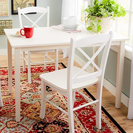 Andover Mills Rectangular Shape, Accommodates up to 4 People Wythe Dining Wood Table with White Finish