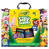 Scented Mini Inspirational Art Case Set, 16 Mini Twistables Crayons, 8 Slim and 8 Broad Line Washable Scented Markers, 20 Coloring Pages (Tamaño: Art Case)