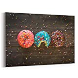 Westlake Art - Canvas Print Wall Art Art - Donuts Computer on Canvas Stretched Gallery Wrap - Modern Picture Photography Artwork - Ready to Hang - 18x12in (37x 887)