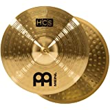 """Meinl 13"""" Hihat (Hi Hat) Cymbal Pair – HCS Traditional Finish Brass for Drum Set, Made In Germany, 2-YEAR WARRANTY (HCS13H)"""