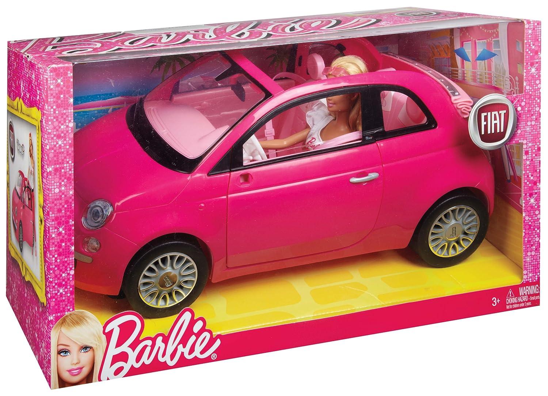 barbie z autem fiat 500c mattel y6857 4771997284 oficjalne archiwum allegro. Black Bedroom Furniture Sets. Home Design Ideas