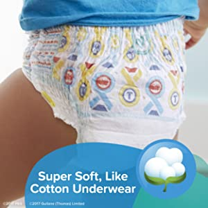 Pampers Easy Ups Training Pants Pull On Disposable Diapers for Boys, Size 5 (3T-4T), 124 Count, ONE Month Supply