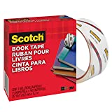 Scotch 845 Book Tape, 2 Inches x 15 Yards, 3 Inch Core, Crystal Clear
