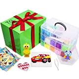 Fuse Beads for Kids, Art Set, 20,000 Perler Beads 5MM, 20 Colors with Storage case, 6 Pegboards, 50 Patterns, 2 Tweezers & 10 Ironing Papers for Making DIY Crafts