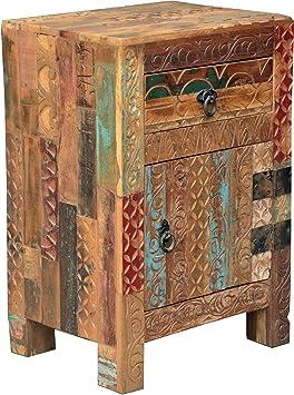 Beistellschrank, Nachttischschrank aus Recycleholz / Beistellschränke