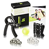 Novaheal Arm Performance- 5 Pack - Hand Grip Strengthener and Forearm Grip Workout kit-Own Your Grip + Exercise Guide and Professional Ebook for Better Results