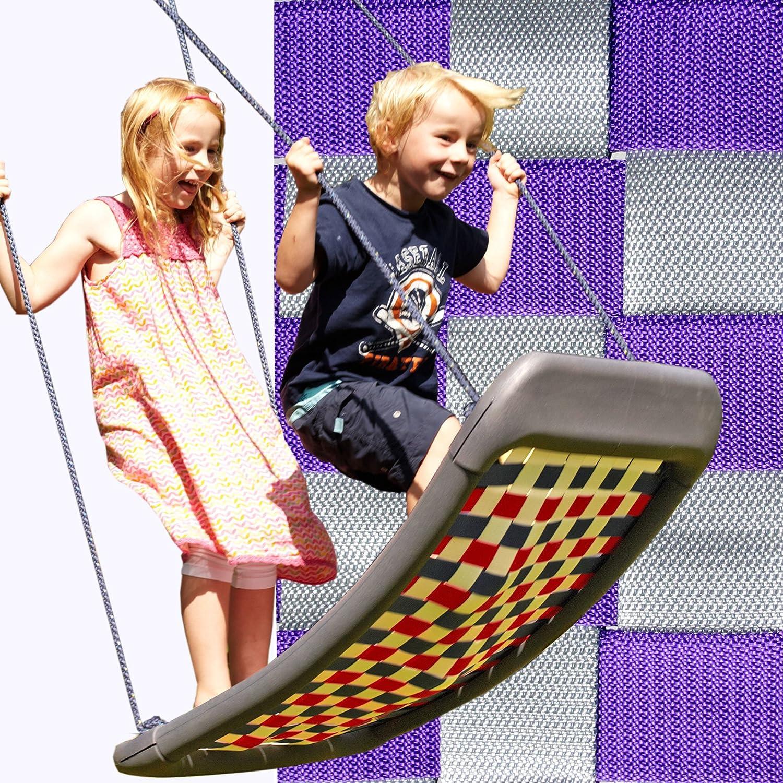 Kleine Mehrkindschaukel STANDARD silber/violett für 2 Kinder, 109 x 53 cm (SPR.M.104) - das Original direkt vom Hersteller die-schaukel.de