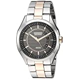 Drive from Citizen Eco-Drive Men's Silver/Rose Gold-Tone Watch with Date, AW1146-55H (Color: Silver/Rosegold)