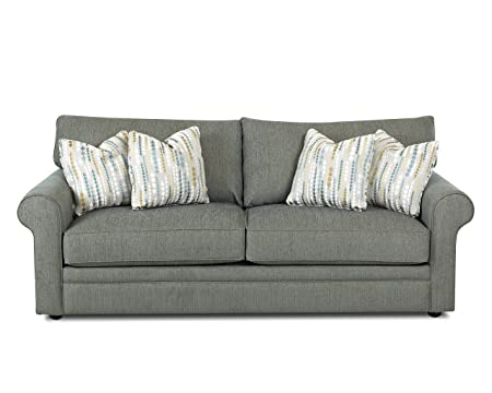 Klaussner Comfy Sofa, Teal/Pacific/Pacific/Teal
