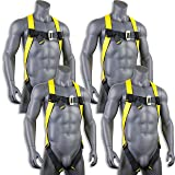 KwikSafety (Charlotte, NC) 4 PACK TORNADO 1D Fall Protection Full Body Safety Harness | OSHA ANSI Industrial Roofing Personal Protection Equipment | Construction Carpenter Scaffolding Contractor (Color: Harnees + Harness + Harness + Harness, Tamaño: 4 Pack (Save $15))