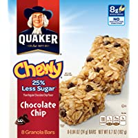 6-Pack Quaker 25% Less Sugar Chocolate Chi 8-0.84 OZ Chewy Granola Bars