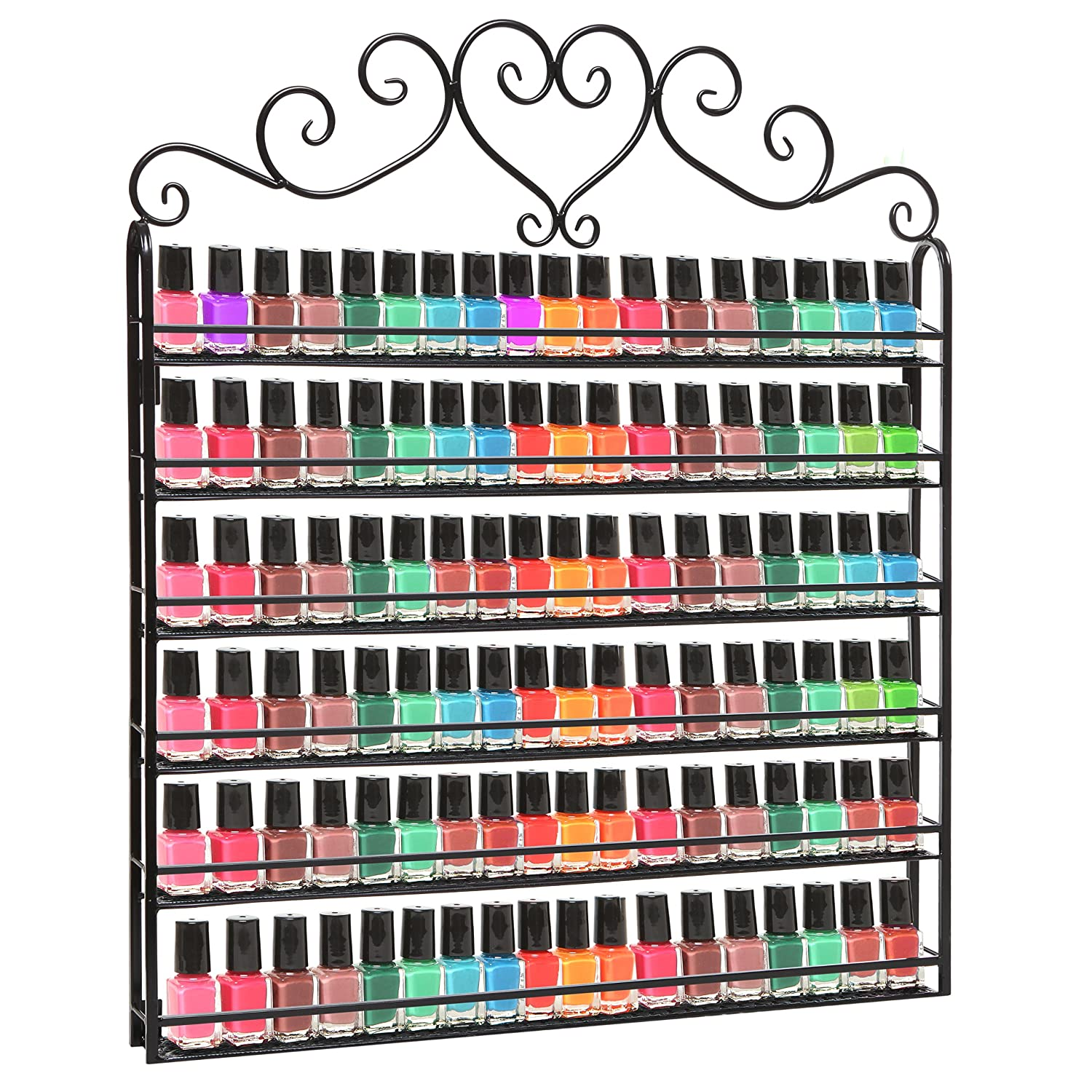 Nail Polish Rack Hanging Wall Mount Display Organizer