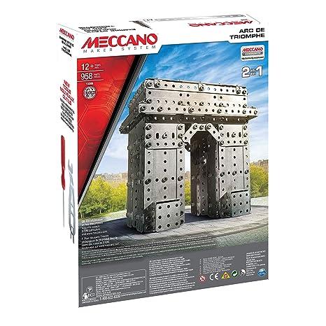 Meccano - 6024902 - Jeu De Construction - Empire State Building Lumineux et Arc de Triomphe - 1163 Pièces