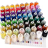 New brothreads 63 Brother Colors Polyester Embroidery Machine Thread Kit 500M (550Y) Each Spool for Brother Babylock Janome Singer Pfaff Husqvarna Bernina Embroidery and Sewing Machines (Color: 63 Brother Colors, Tamaño: 500M(550Y))
