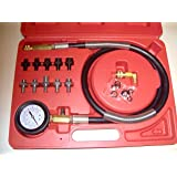 12 Pc Engine Oil Pressure Tester Gauge Diagnostic Test Kit w/ 10 Fittings 140 PSI
