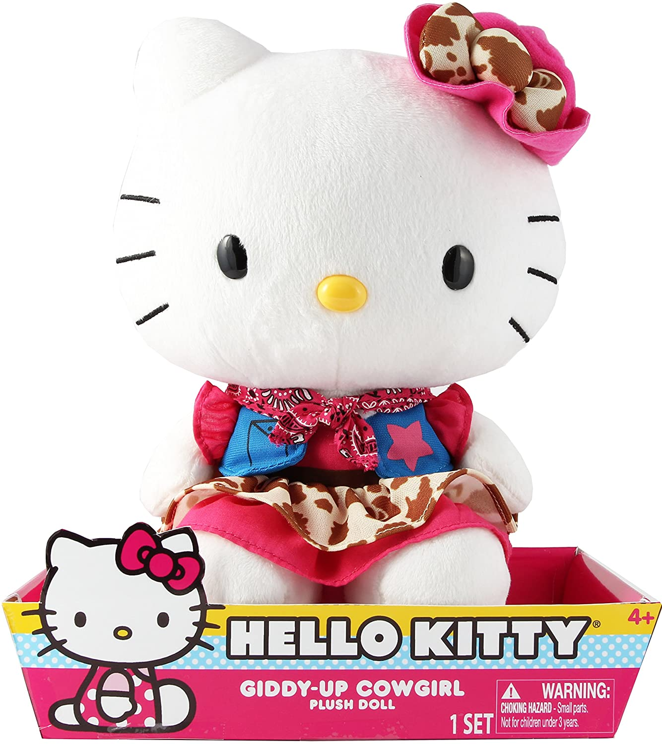 Hello Kitty Large Cowgirl Plush