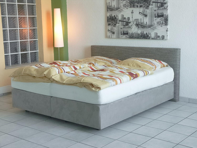 Premium Boxspringbett Materialmix stone 200 x 200 cm, Härte 3 / 3 günstig