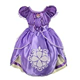 Dressy Daisy Baby-Girls' Princess Sofia Dress up Costume Cosplay Fancy Party Dress Size 12-18 Months (Color: Tea Length, Tamaño: 12-18 Months)