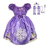 Lito Angels Girls' Princess Sofia The First Dress up Costume Cosplay Fancy Party Dress Outfit with Accessories Size 12-18 Months (Color: Tea Length, Tamaño: 12-18 Months)