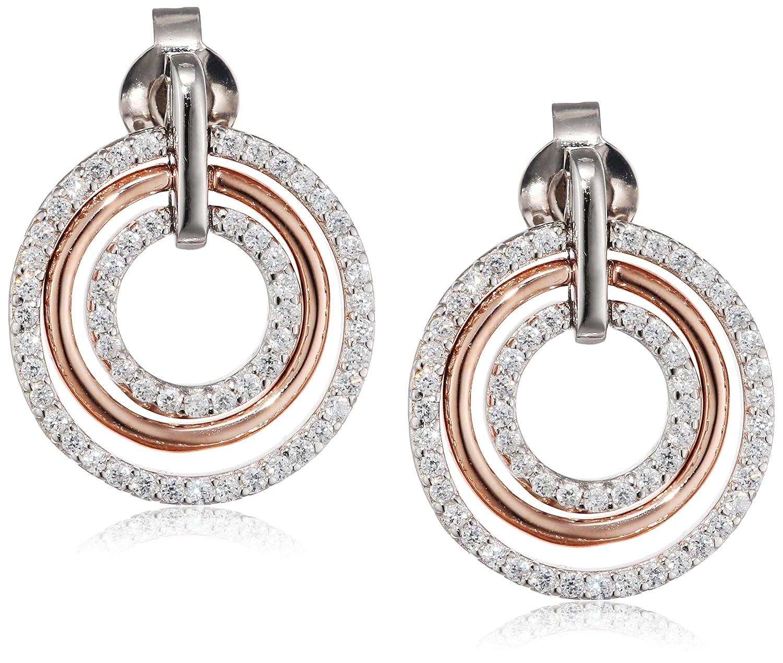 Esprit Essential Damen-Ohrstecker ES-CIRCLETS 925 Silber rhodiniert Zirkonia transparent – ESER92880D000 günstig bestellen