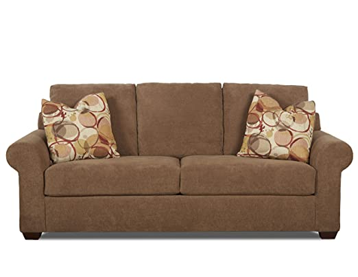 Klaussner Cole Sofa, Mocha/Red