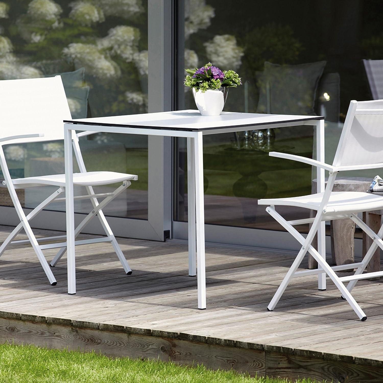 White Tisch weiß/anthrazit 75 x 75 cm günstig