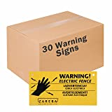 Zareba WS3 Electric Fence Warning Signs (30 Pack)