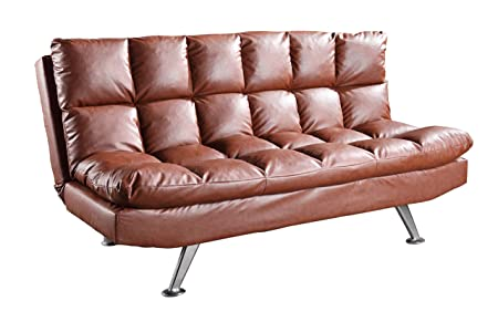 Glory Furniture G146-S Klik Klak Sofa Bed, Brown