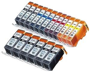 18 Multipack de alta capacidad Canon CLI-521 , PGI-520 Cartuchos Compatibles 6 negro grande, 3 negro pequeño, 3 ciano, 3 magenta, 3 amarillo para Canon Pixma iP3600, Pixma iP4600, Pixma iP4700, Pixma MP540, Pixma MP540x, Pixma MP550, Pixma MP560, Pixma MP620, Pixma MP620B, Pixma MP630, Pixma MP640, Pixma MX860, Pixma MX870. Cartucho de tinta . CLI-521BK , CLI-521C , CLI-521M , CLI-521Y , PGI-520BK © 123 Cartucho  Oficina y papelería Comentarios de clientes y más información