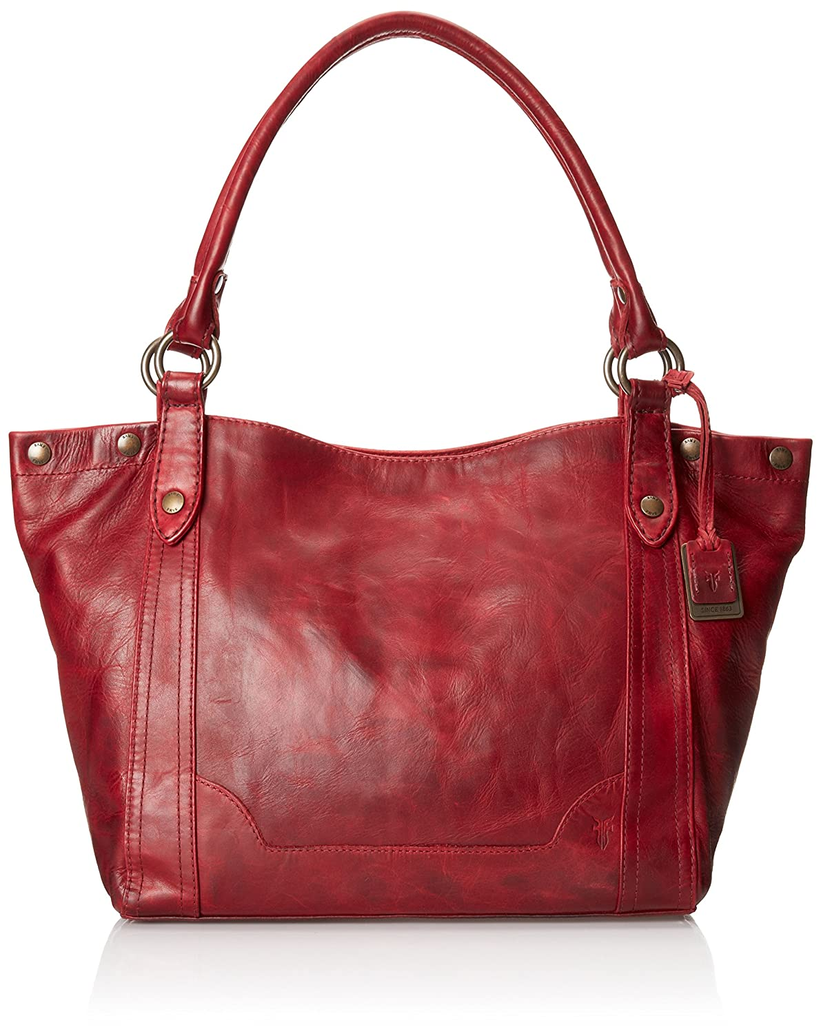 Frye Vintage Stud Shoulder Bag Burnt Red 5