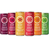 IZZE 6 Flavor Sampler Variety Pack, 8.4oz Cans (Pack of 12) (Tamaño: 12 Count Cans)
