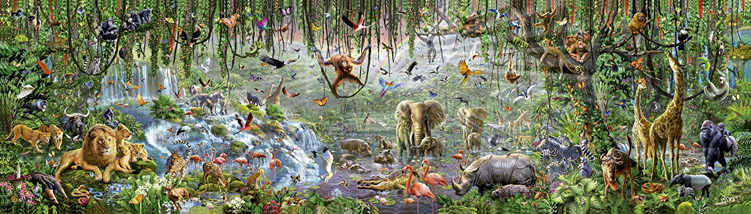 Wildlife puzzle Educa 336000 world's largest puzzle