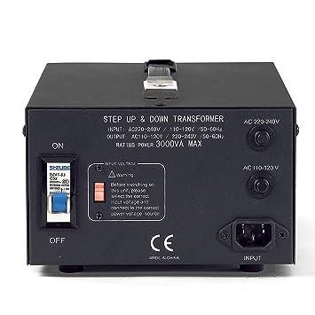 250W Voltage Power Converter with Safety Breaker AC 110V//120V//220V//230V//240V