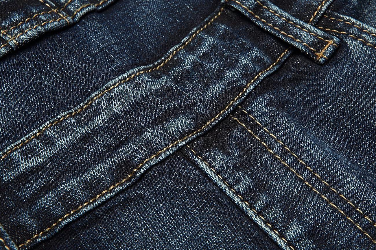 Eurssto Women's Basic Vintage Denim Jeans Overalls Pants Navy 4