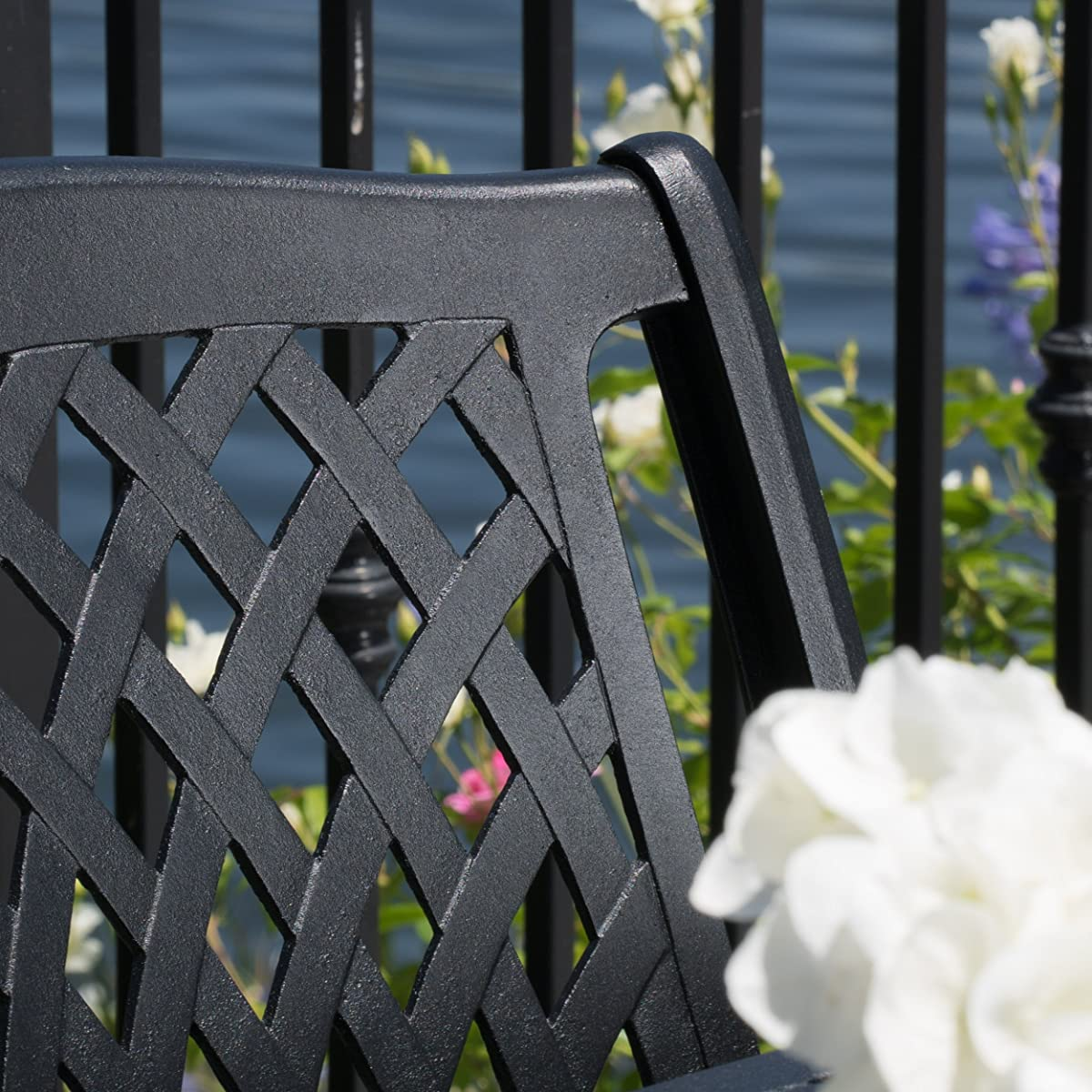 Great Deal Furniture Marietta Outdoor 7pc Cast Aluminum Dining Set