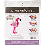 Dimensions Flamingo Felt Animals Needle Felting Craft Kit, 4'' x 6'' (Color: Flamingo, Tamaño: 4x6)