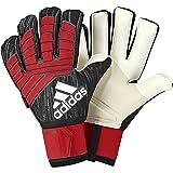 adidas Predator Pro Fingersave Soccer Goalkeeper Gloves (10) (Color: Black / Red / White -Red-Black, Tamaño: 10)