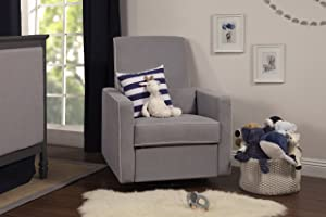 DaVinci Piper All-Purpose Upholstered Recliner with Cream Piping